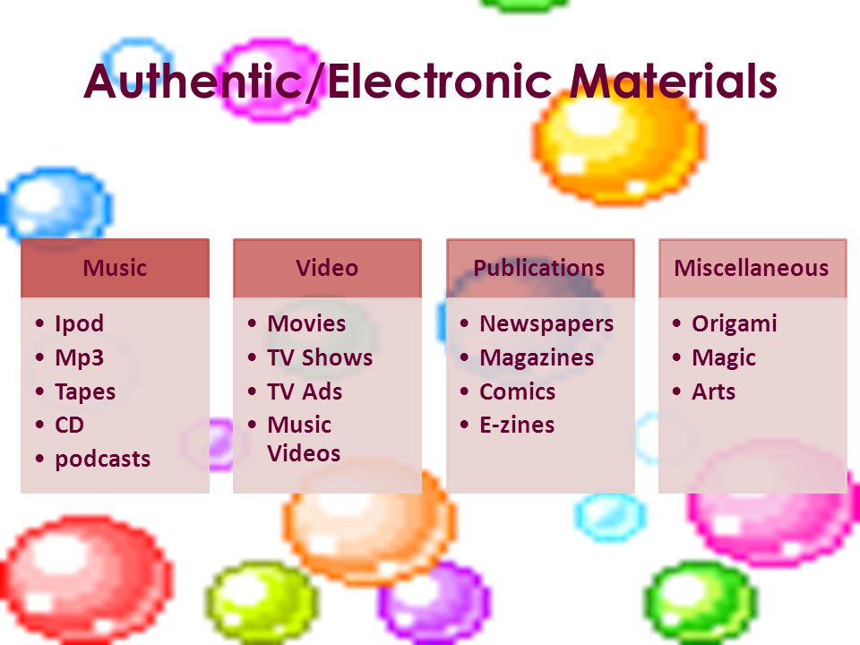 Authentic/Electronic Materials