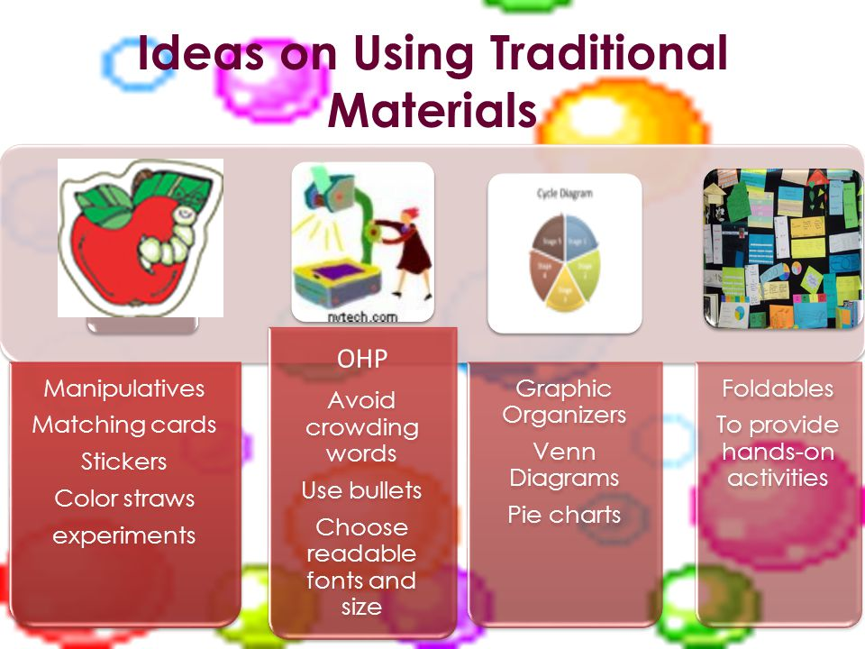 Ideas on Using Traditional Materials