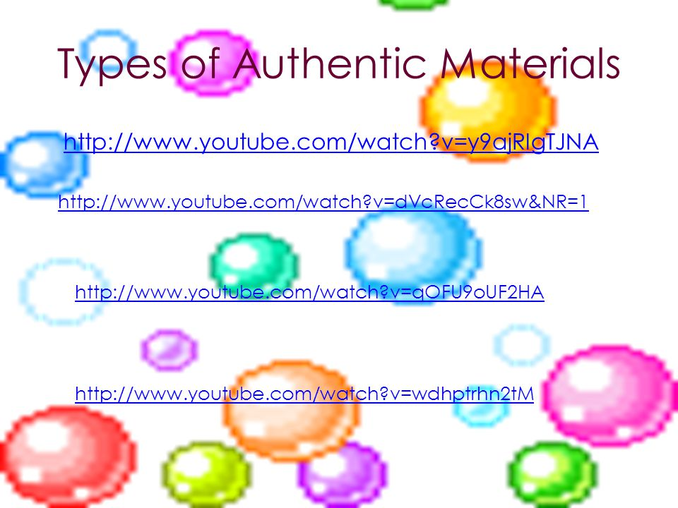 Types of Authentic Materials