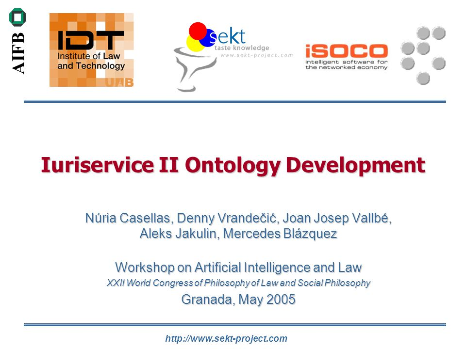 Iuriservice II Ontology Development