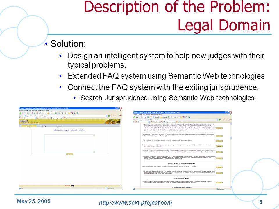 Description of the Problem: Legal Domain