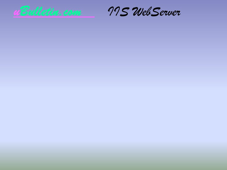 uBulletin.com IIS WebServer