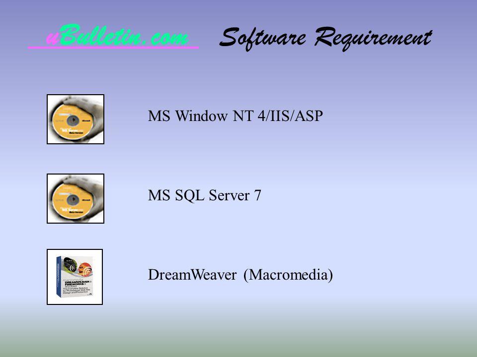 uBulletin.com Software Requirement