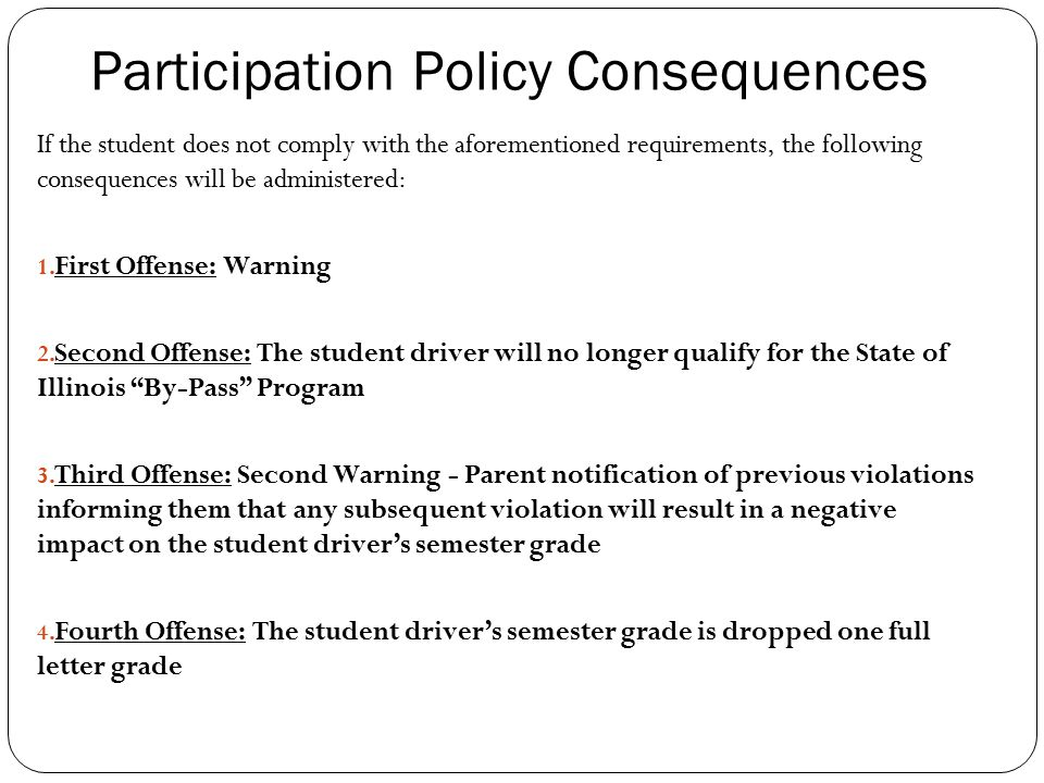 Participation Policy Consequences
