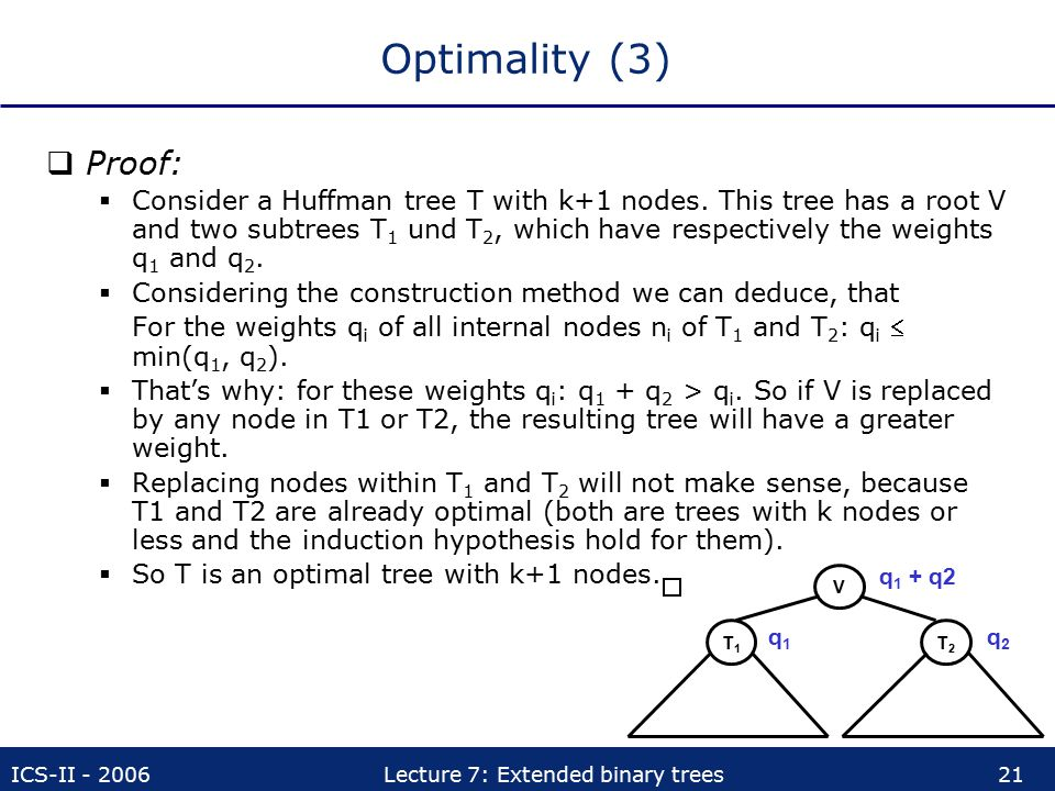 Optimality (3) Proof: