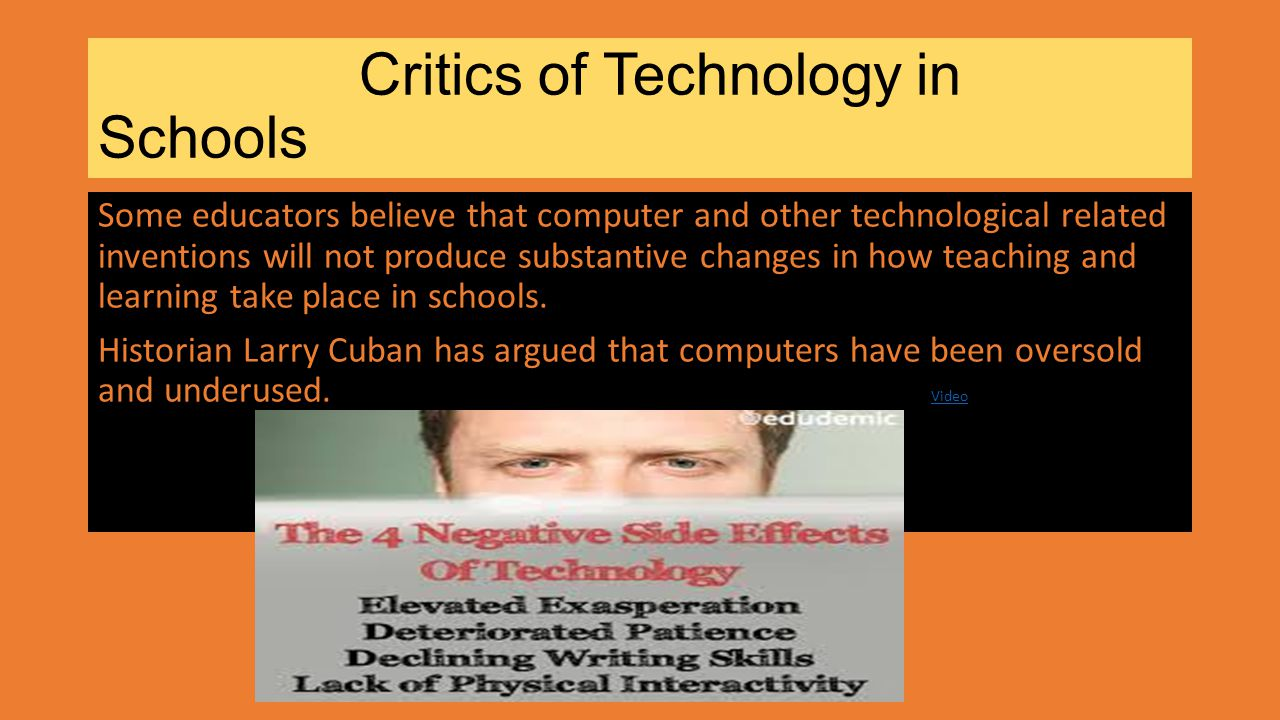 Critics of Technology in Schools
