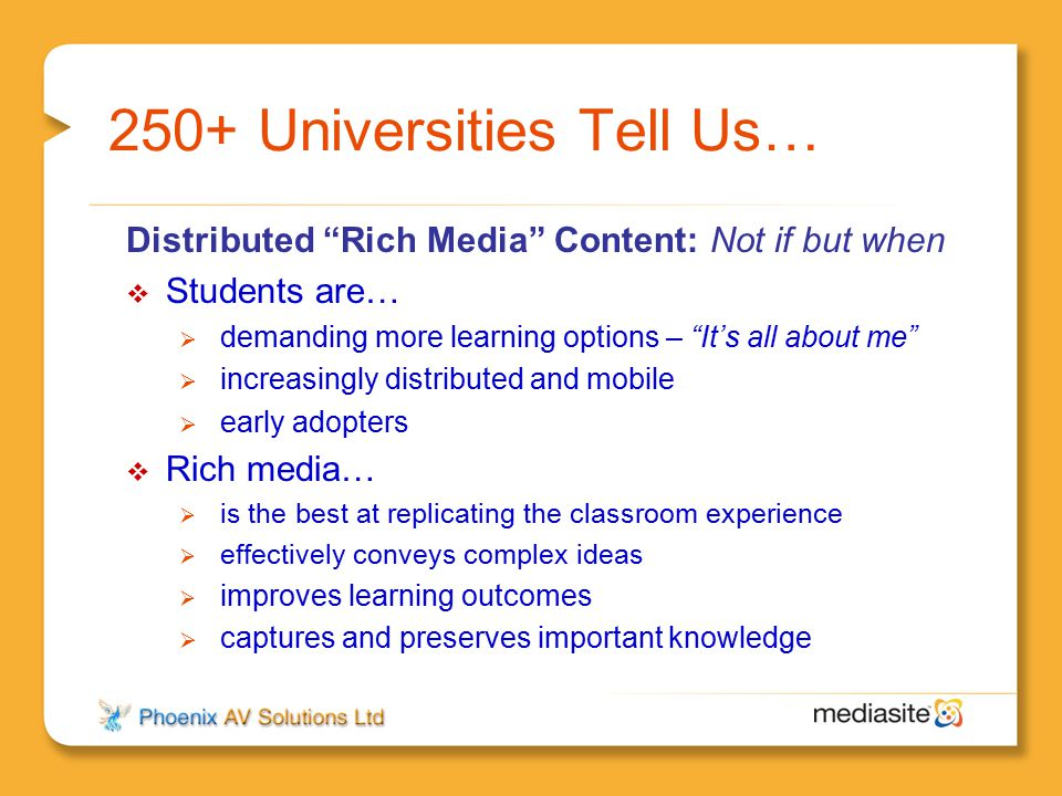 250+ Universities Tell Us…