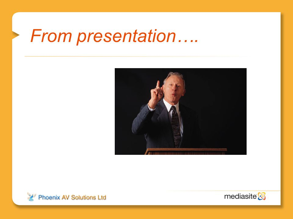 From presentation….