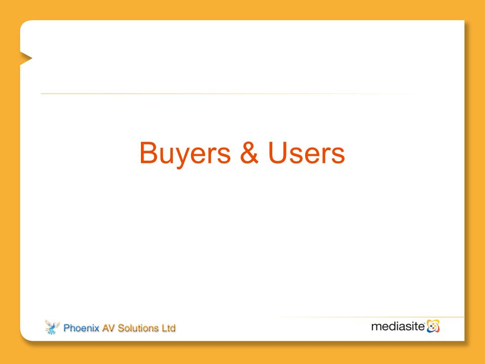 Buyers & Users