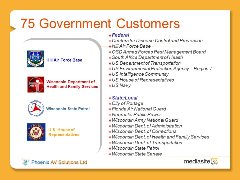 75 Government Customers Federal
