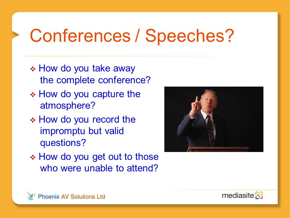 Conferences / Speeches