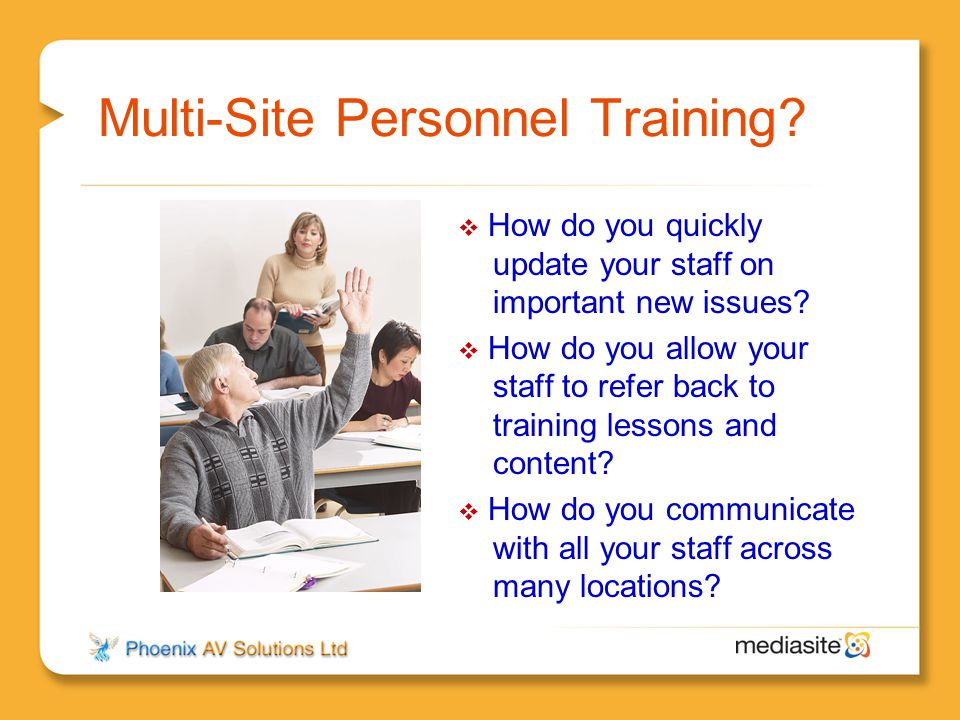 Multi-Site Personnel Training