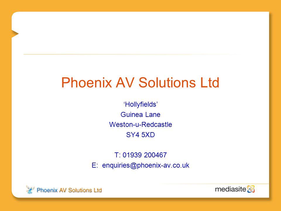 Phoenix AV Solutions Ltd