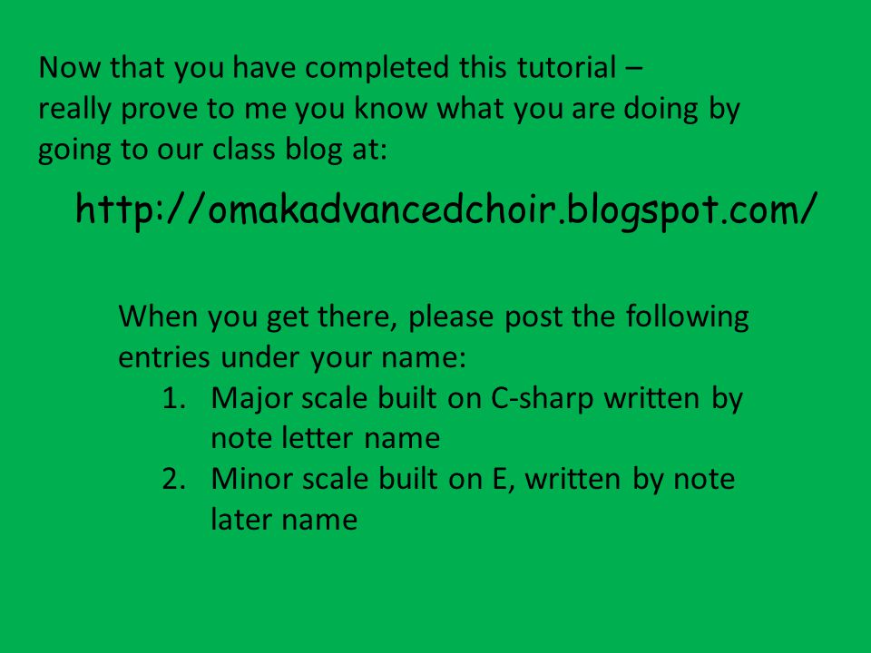 Now that you have completed this tutorial –