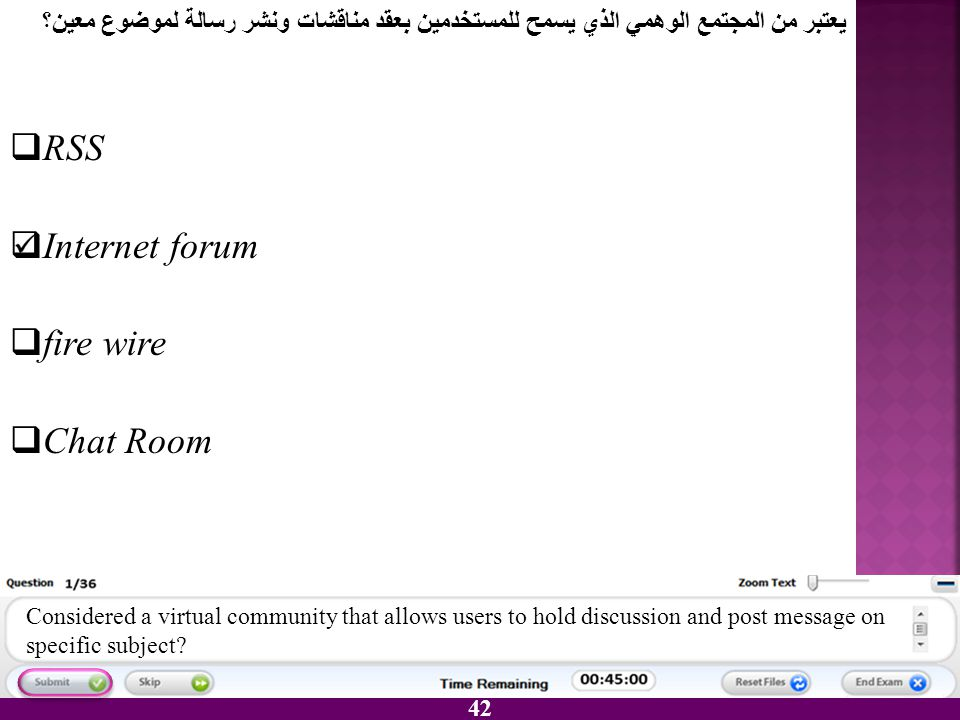 RSS Internet forum fire wire Chat Room