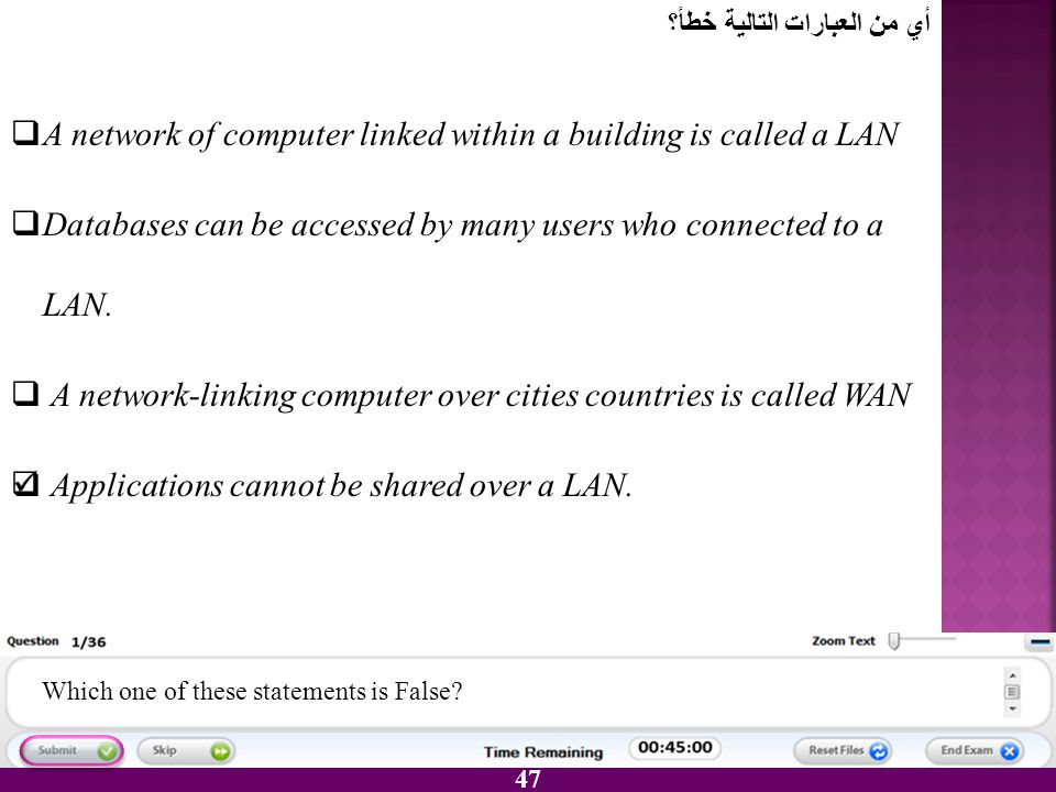 A network of computer linked within a building is called a LAN