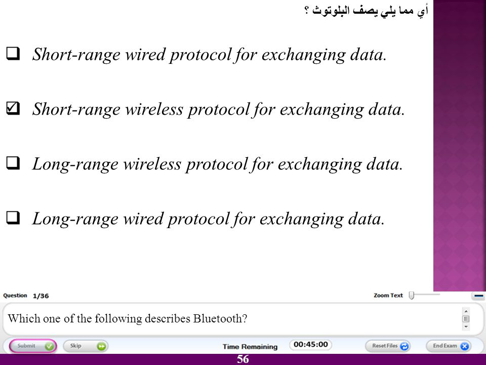 Short-range wired protocol for exchanging data.