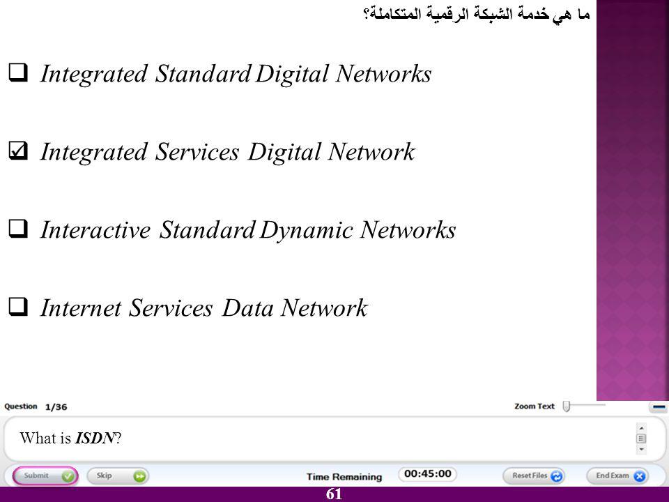 Integrated Standard Digital Networks