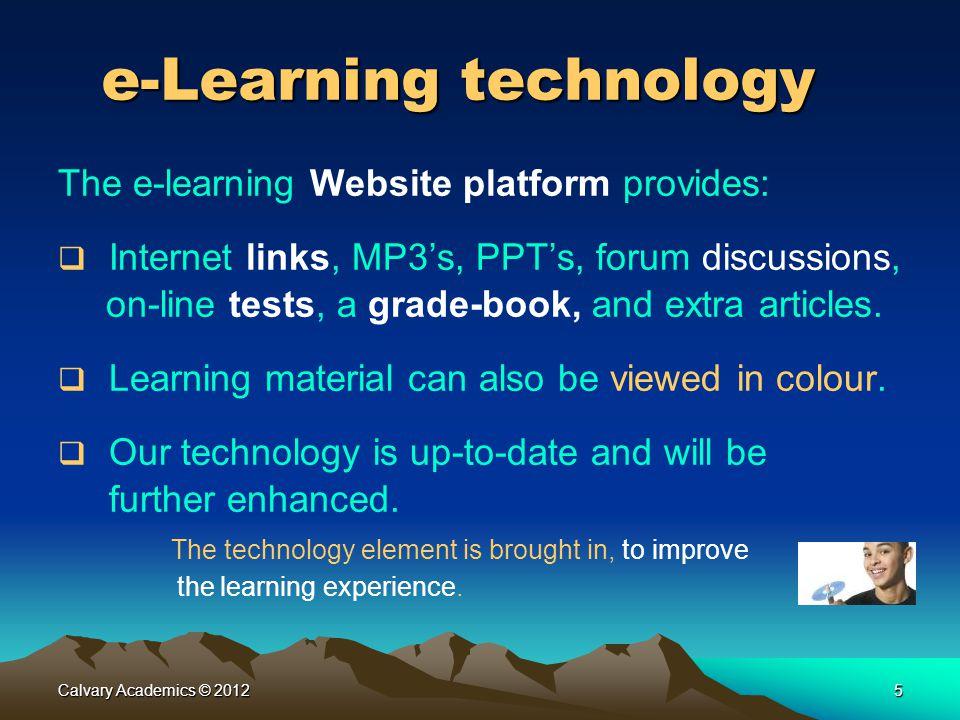 e-Learning technology
