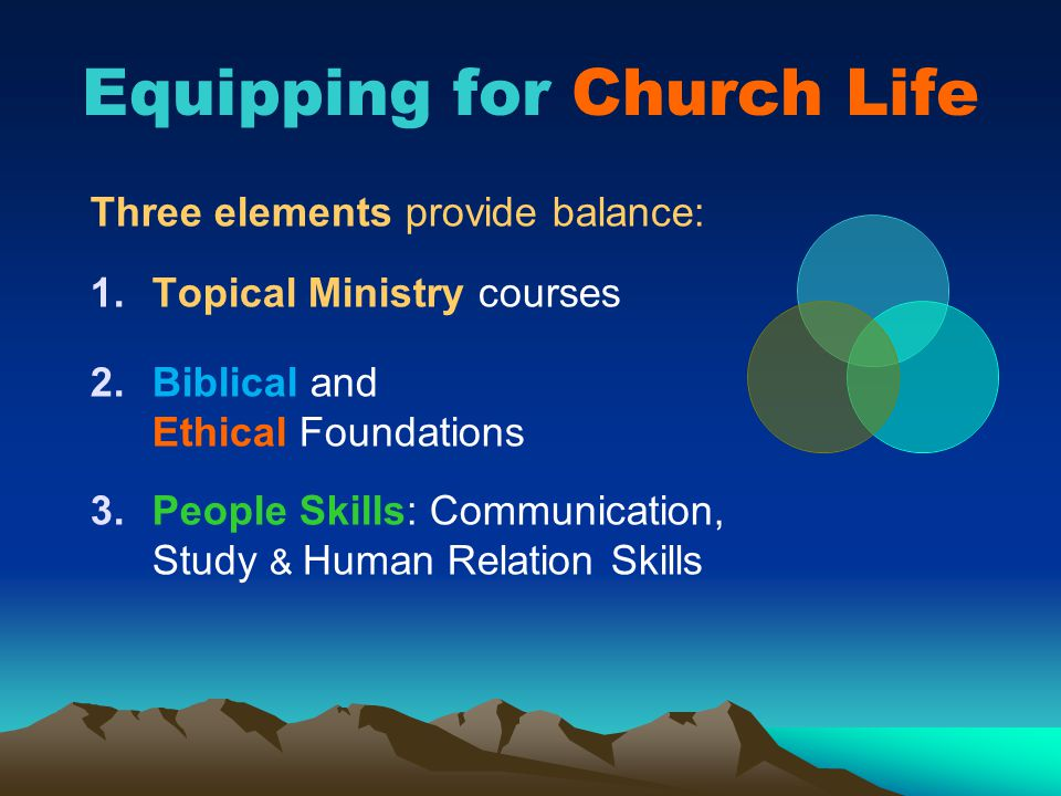 Equipping for Church Life
