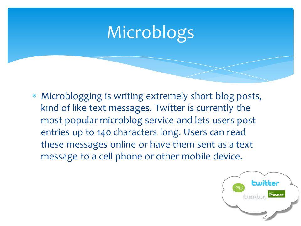 Microblogs