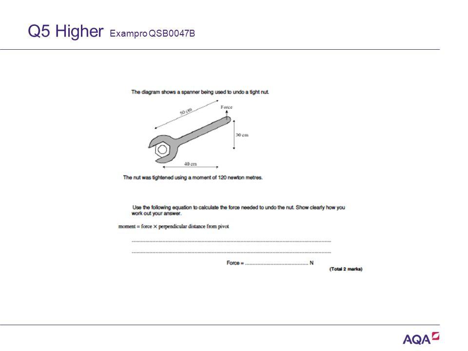 Q5 Higher Exampro QSB0047B Version 2.0 Copyright © AQA and its licensors.