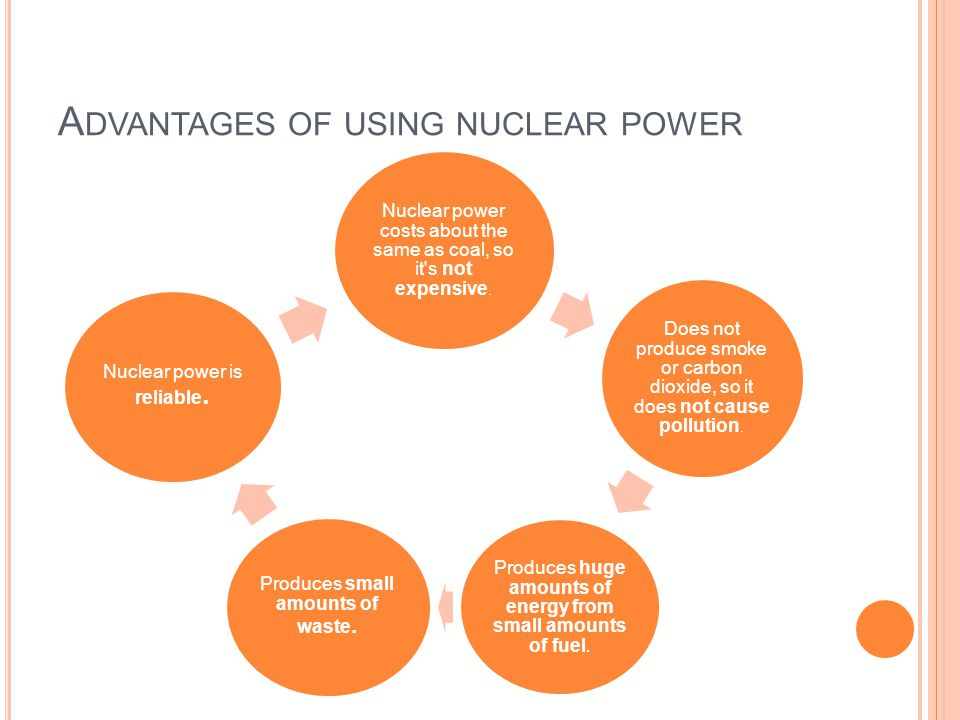 Advantages of using nuclear power