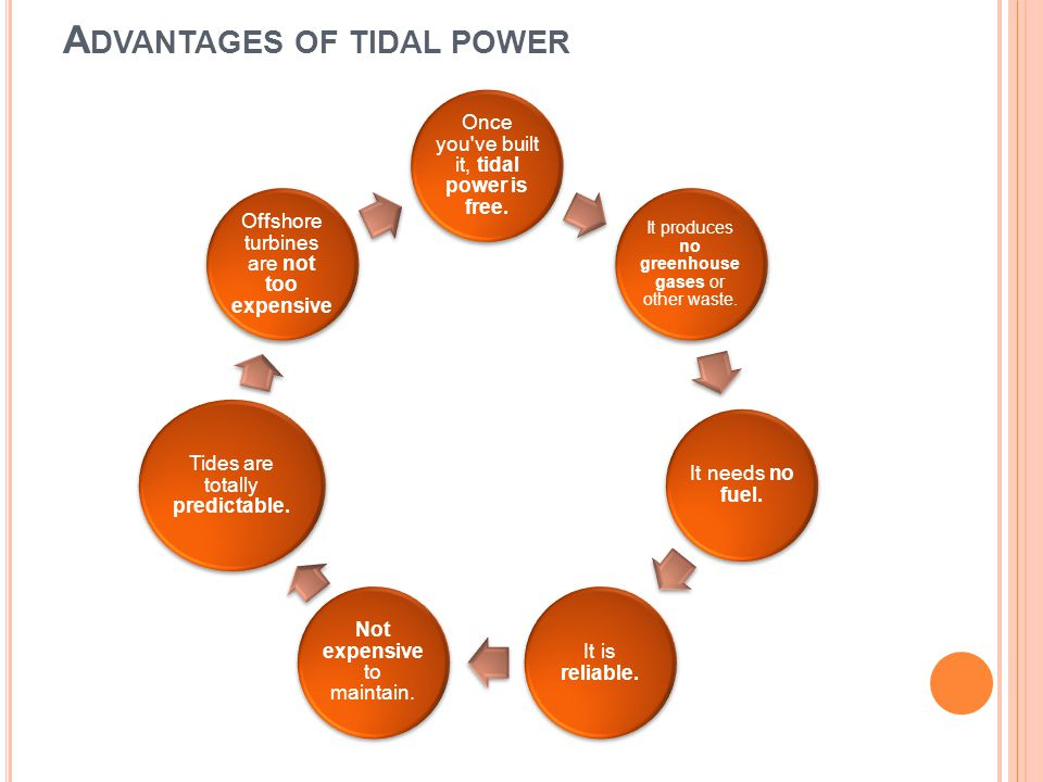 Advantages of tidal power