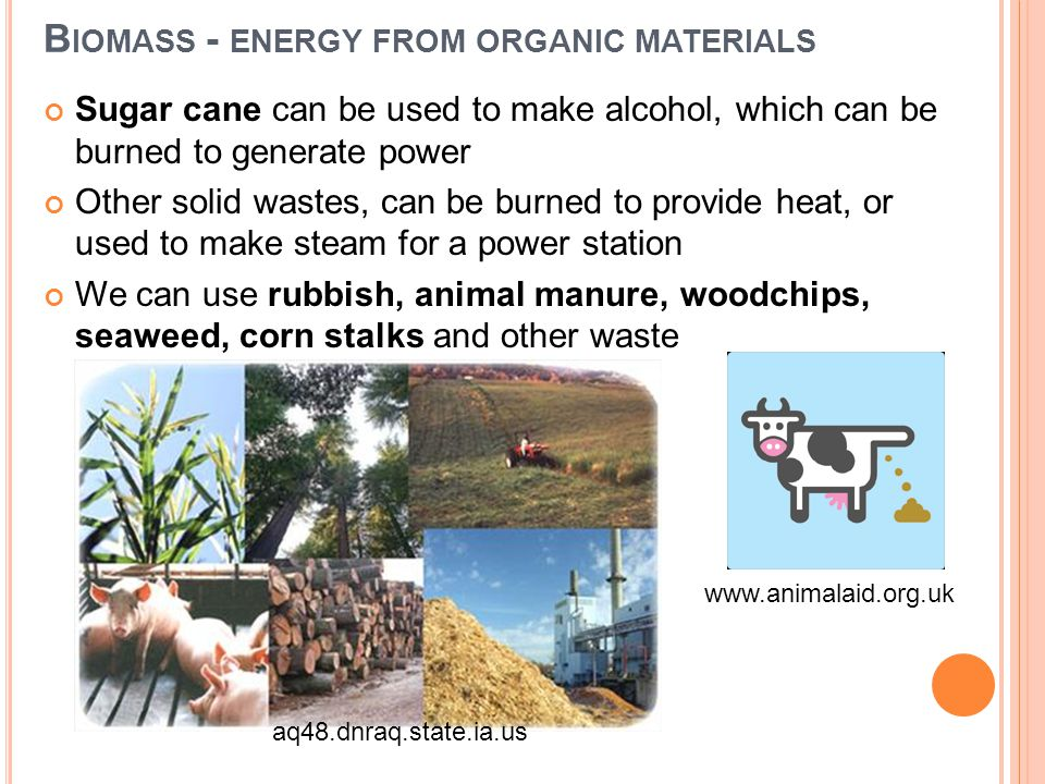Biomass - energy from organic materials