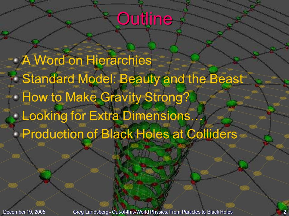 Outline A Word on Hierarchies Standard Model: Beauty and the Beast