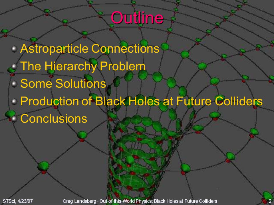 Outline Astroparticle Connections The Hierarchy Problem Some Solutions