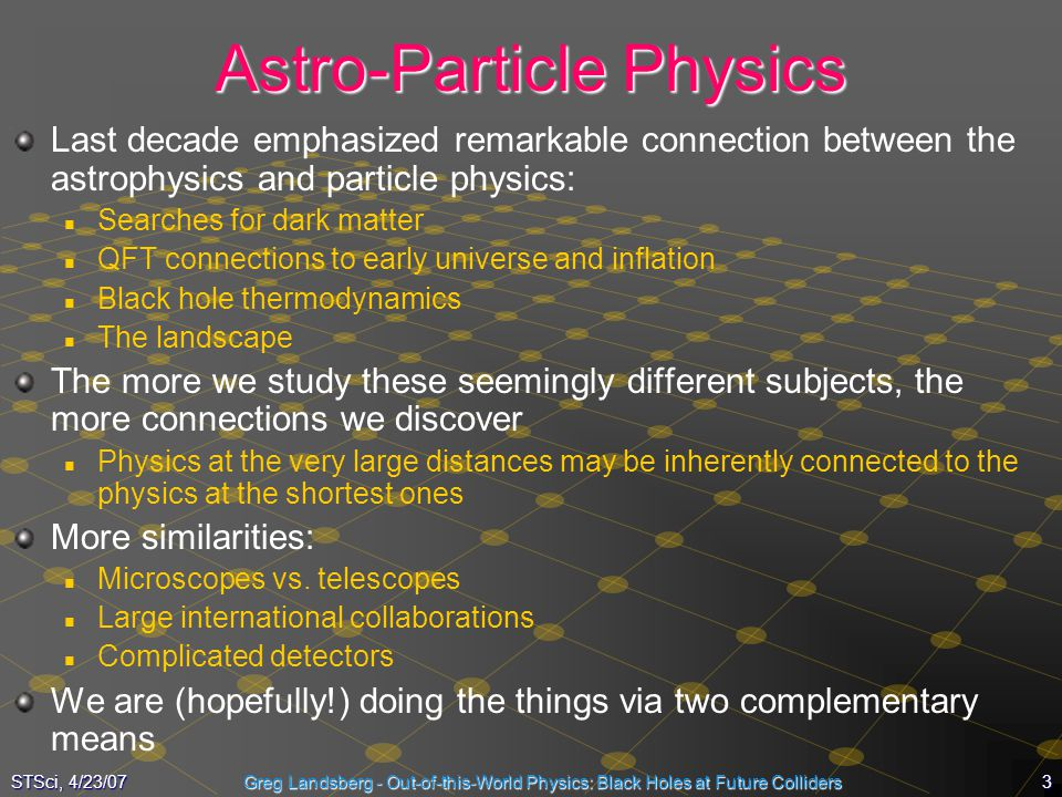 Astro-Particle Physics