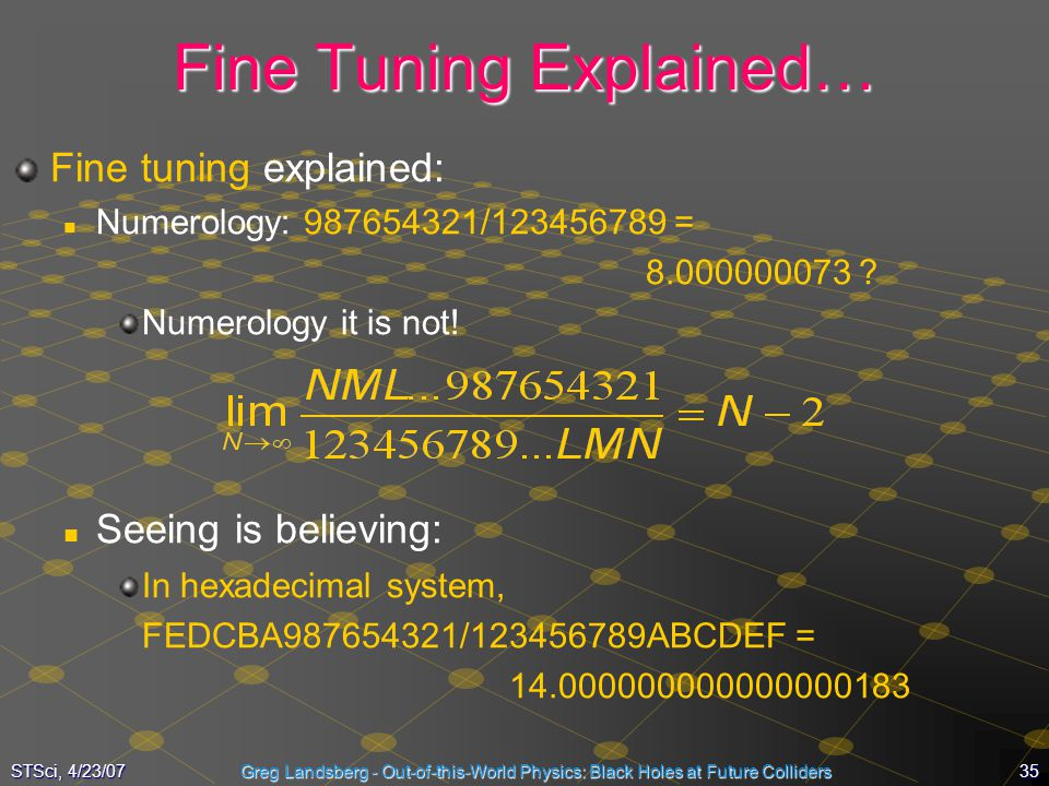 Fine Tuning Explained…