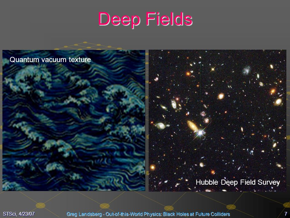 Deep Fields Quantum vacuum texture Hubble Deep Field Survey