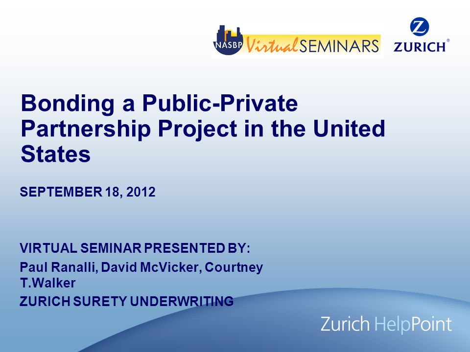 Bonding a Public-Private Partnership Project in the United States