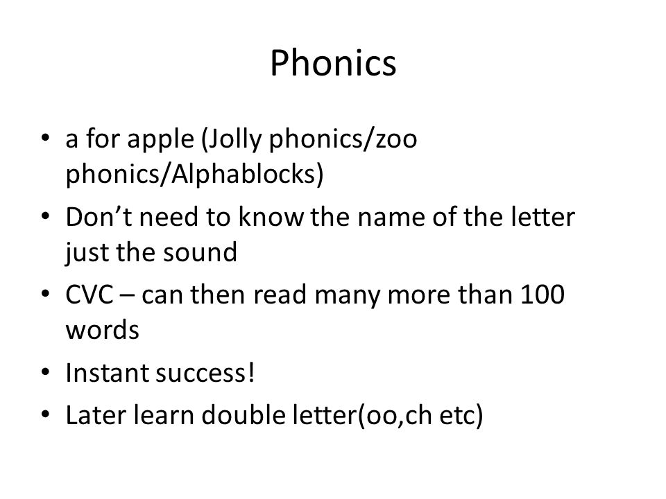 Phonics a for apple (Jolly phonics/zoo phonics/Alphablocks)