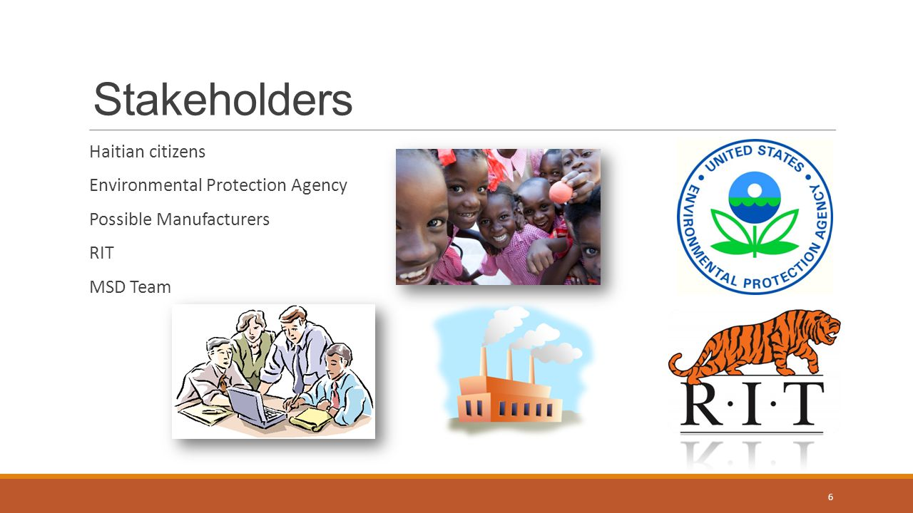 Stakeholders Haitian citizens Environmental Protection Agency