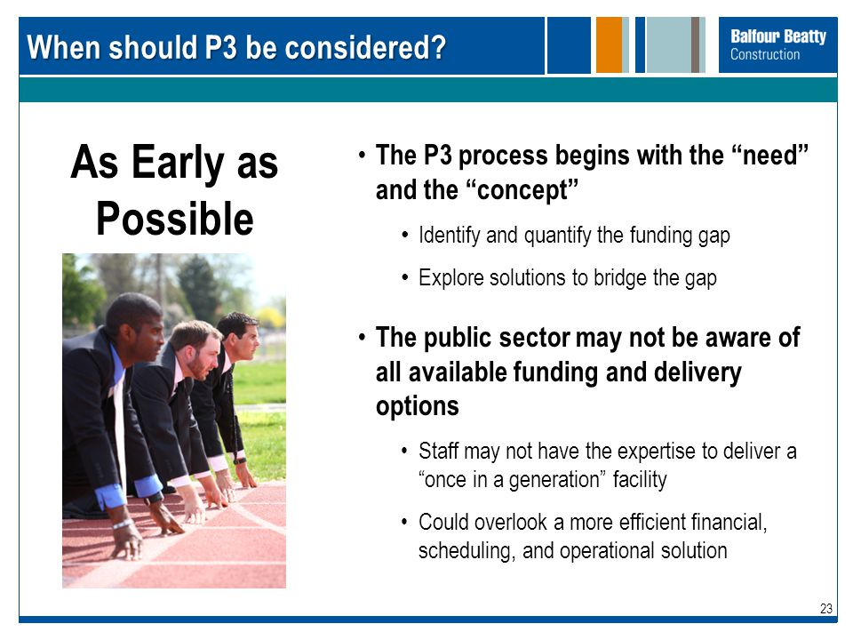 When should P3 be considered
