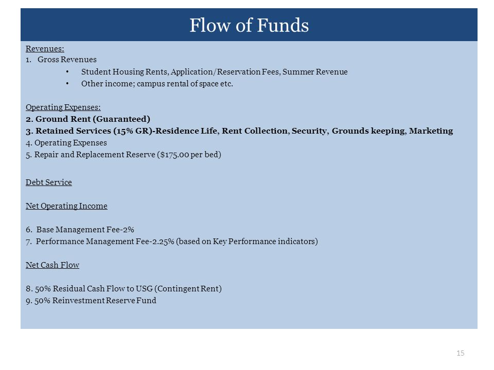 Flow of Funds Revenues: 1. Gross Revenues