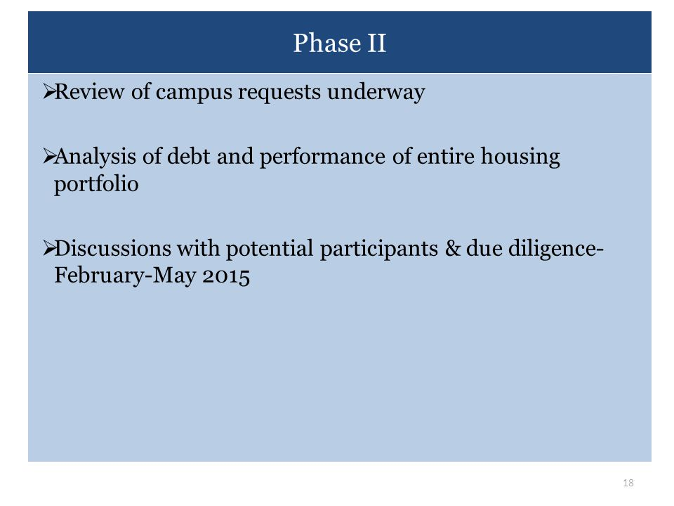 Phase II Review of campus requests underway