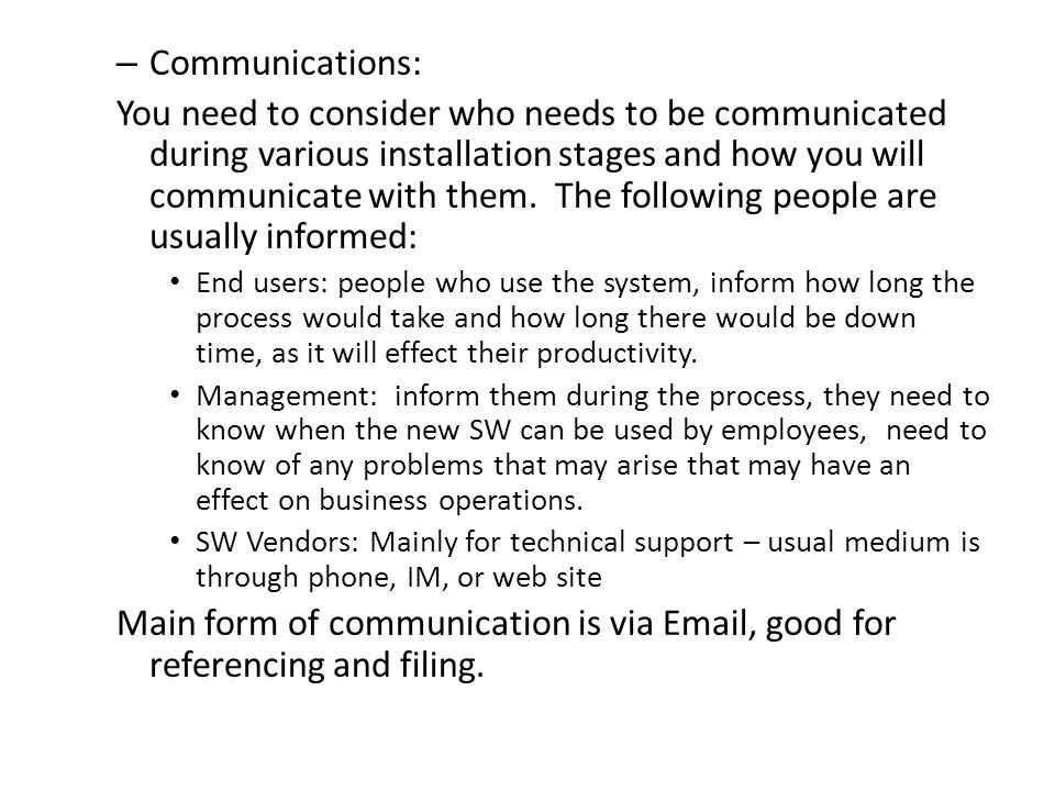 Communications: