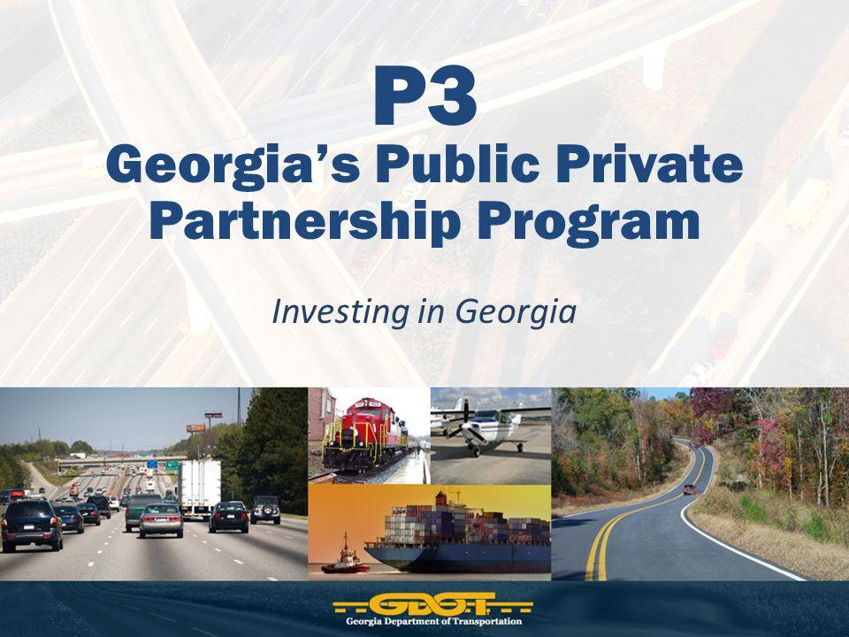 P3 Georgia's Public Private Partnership Program