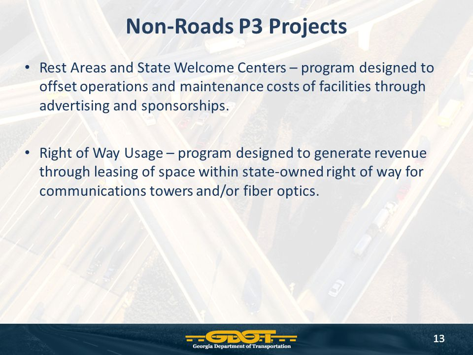 Non-Roads P3 Projects