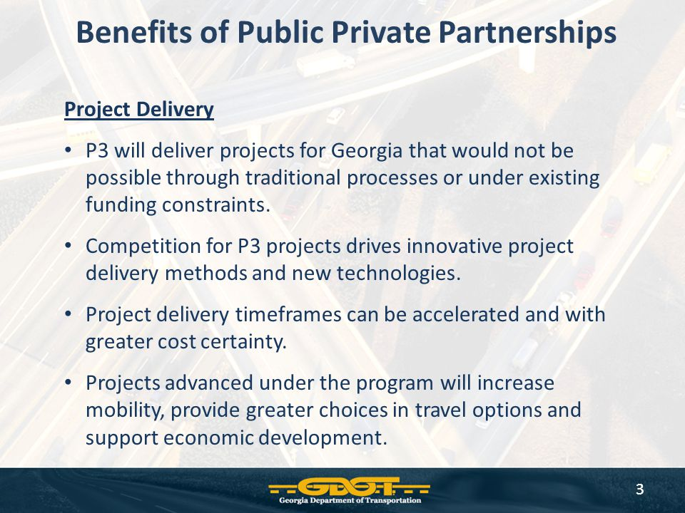 Benefits of Public Private Partnerships