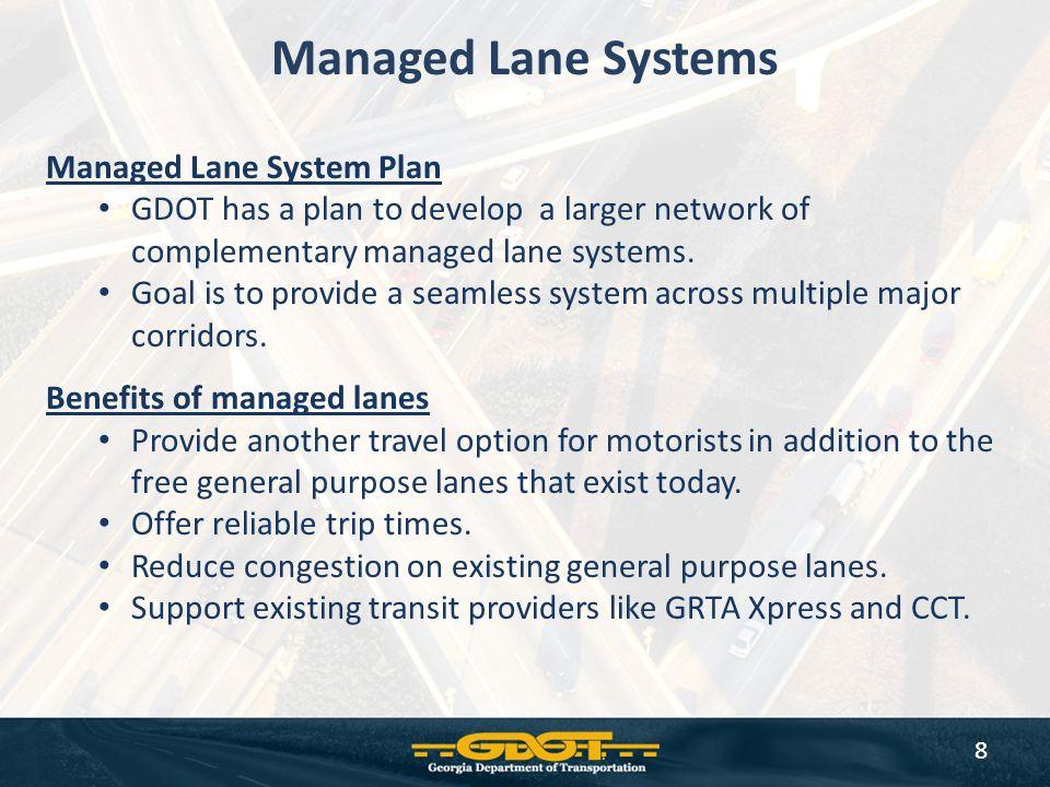 Managed Lane Systems Managed Lane System Plan