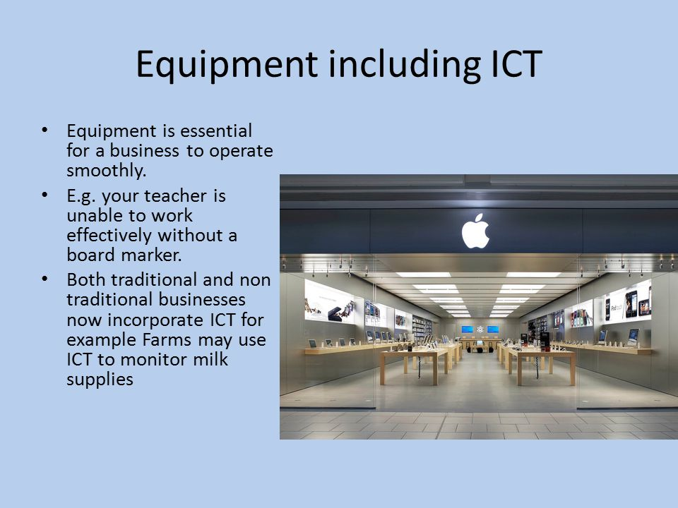 Equipment including ICT