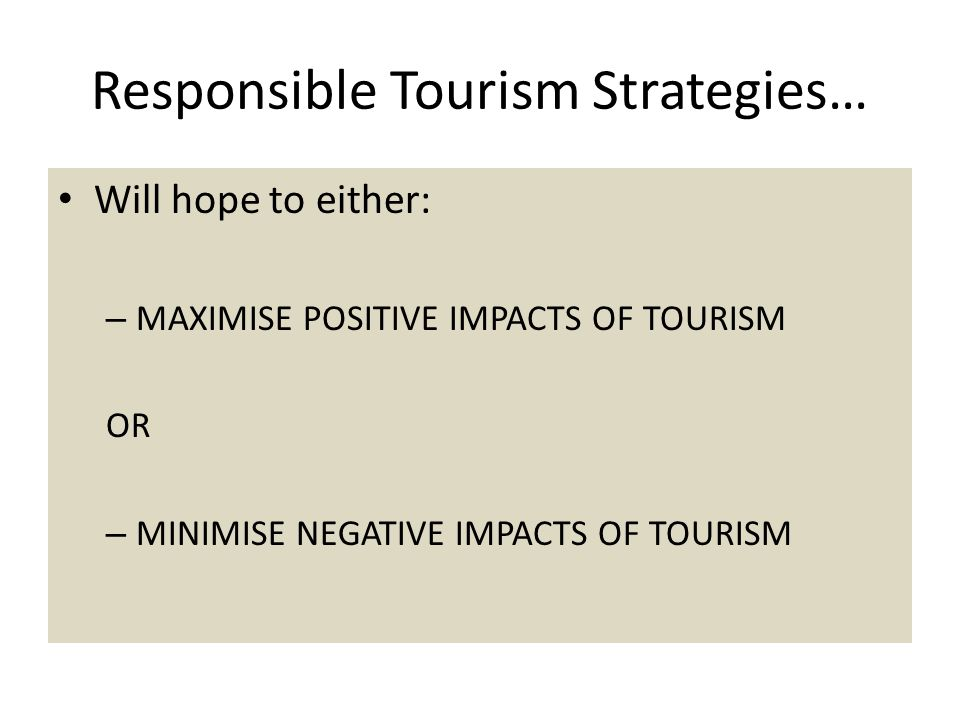 Responsible Tourism Strategies…