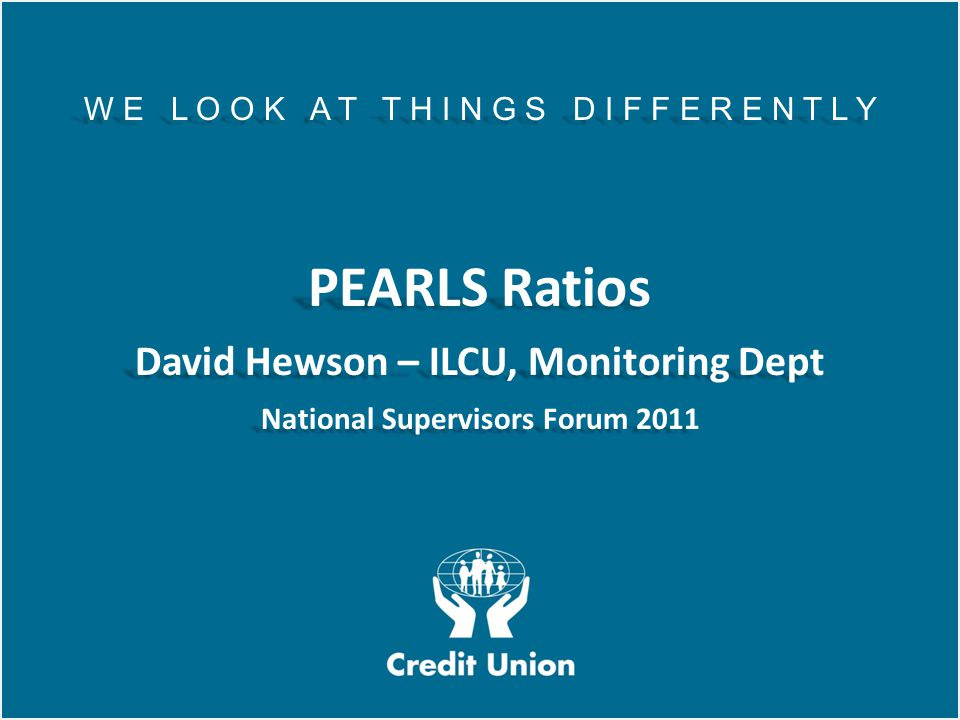 David Hewson – ILCU, Monitoring Dept National Supervisors Forum 2011