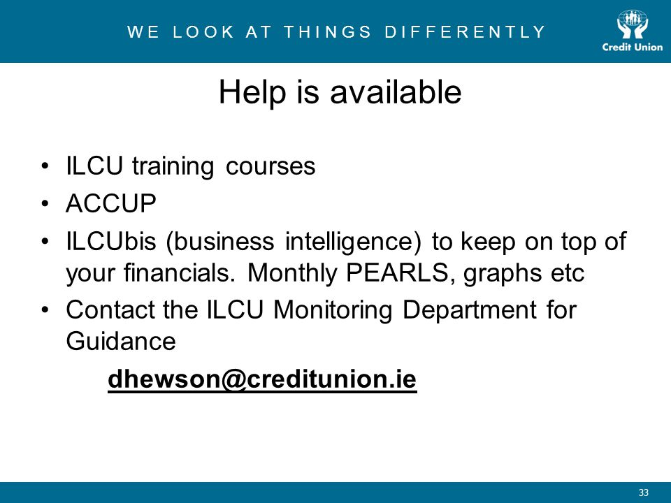 Help is available ILCU training courses ACCUP