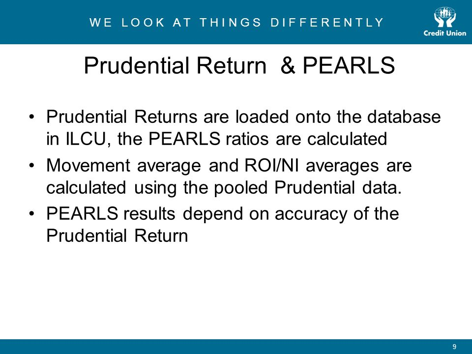 Prudential Return & PEARLS
